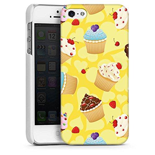 Apple iPhone 5s Housse étui coque protection Muffin Cake Gâteau CasDur blanc