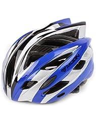 HYF-Aegis De carbono del casco de ciclista de montaña Bike el casco para mujeres y hombres - 55-58CM , blue line