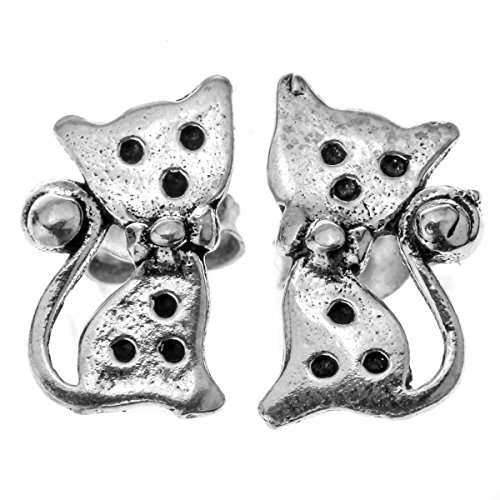 loveangel jewellery925 Sterling Silber Ohrstecker Katze Halloween Party Schmuck Geschenke für Frauen teen-girls (Girls Teen Halloween Kostüme)