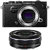 Olympus PEN-F Mirrorless Micro Four Thirds Digital Camera with Olympus M.Zuiko Digital ED 14-42mm f/3.5-5.6 EZ Lens (Black)