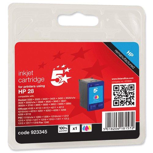 5 star 923345 compatibile per hp c8728ae 28 cartuccia inkjet, multicolore