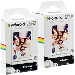 Pellicule instantanée Polaroid PIF300 - Conçue pour être utilisée avec les appareils photo Fujifilm Instax Mini et PIC 300 (30 feuilles)