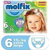molfix waschbeständigem/Jumbo Economie Pack 36Schichten 15+ kg Größe 6