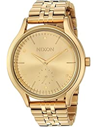 Nixon Women's 'Sala' Quartz Stainless Steel Casual Watch, Color:Gold-Toned (Model: A994502-00)