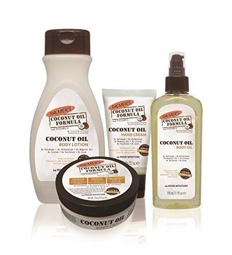 Hand Lotion Set (Palmers Kokosöl Körper Pflege & hand Pflege 4er Set produkte (handcreme, lotion, körpercreme und körperöl))