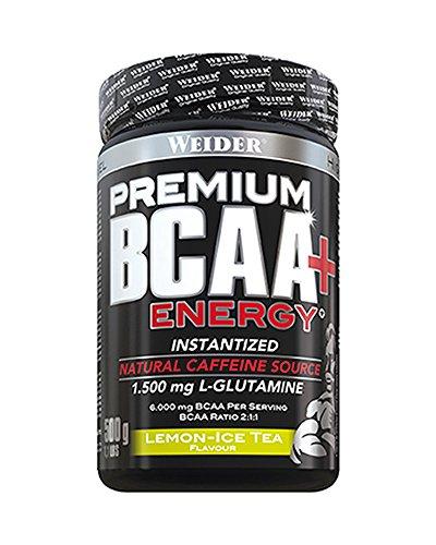 Weider Premium BCAA Powder+Energy Zitrone-Eistee, 500 g
