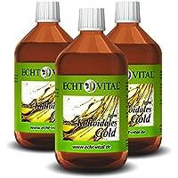 Preisvergleich für Echt Vital Kolloidales Gold 8 ppm - 3 Flaschen mit je 500 ml - Reinst-Gold (Reinheitsstufe 99,99%)