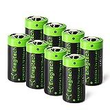 Enegitech 8 Pack RCR123A Lithium Wiederaufladbare Batterie Akku 3.7V 750mAh CR123A Fotobatterie für Arlo Kamera VMC3030 Taschenlampe, Kamera, Camcorder, Spielzeug Fernbedienung