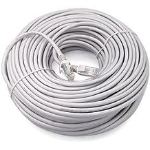 TRIXES Rollo de 30 metros de Cable Conector a Red LAN Ethernet CAT5e RJ45