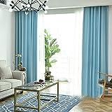 curtain Vorhang Warmer Lärmschutz Halbschattierung Isolationsverschleißfester Vorhang Blau Einzelstück,Width2Height2.7