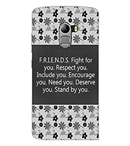 PrintDhaba Quote D-4182 Back Case Cover for LENOVO K4 NOTE A7010 (Multi-Coloured)