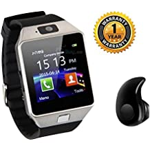 Raptas DZ09 Bluetooth Smart Watch With Camera And Sim Card & Sd Card Slot With Mini S530 Wireless Bluetooth V4.0 In-ear Stereo Earphone Headset Compatible All Smartphones. (One Year )
