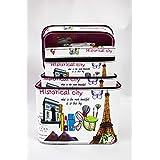 Shopkooky Makeup Kit Utility Storage Box (White Paris)