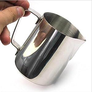 HULISEN Mini Milk Frothing Pitcher, Stainless Steel Coffee Latte Jug Milk Jug