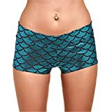 Material:Polyester,SpandexStyle:Sexy & ClubDecoration:PatternWaist Type:LowFit Type:skinnyClosure Type:Elastic WaistPant Style:REGULARMaterial Composition:Polyester SpandexModel Number:D069Pattern Type:Fish scalesoutside length:shortsMaterial com...