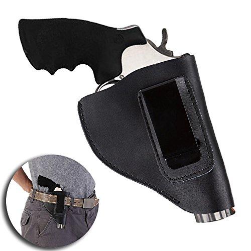 Etophigh Tactical Leather Waistband Clip Concealed Within Bund Belt Pouch Outdoor Storage Supplies for Pistols Gun (Für Revolver Holster)