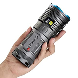 New Blue Supwildfire 30000LM 10x XM-L T6 LED Power & Mode Digital Display Hunting Flashlight By Anglewolf