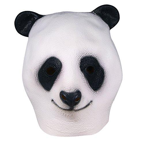 Für Deluxe Panda Kostüm Erwachsene - Panda Maske, Halloween Panda Voll Overhead Maske, Neuheit Deluxe Kostüm Party Cosplay Latex Tierkopf Maske für Erwachsene