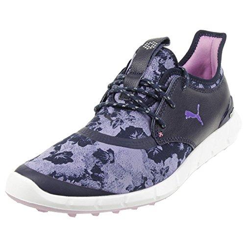 Puma Ignite Spikeless Sport Floral Damen Golfschuhe Frauen Schuhe blau lila Größe 37