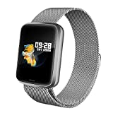 Lintelek Smartwatch HR NEU Smart Watch Health Watch Fitness Armband Pulsuhren Sportuhr Farbbildschirm Blutdruck Vibrationsalarm kompatibel mit iPhone Android Fitness Tracker für Samsung...