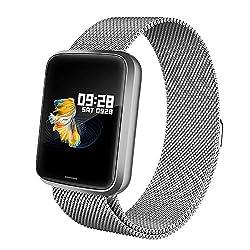 Lintelek Smartwatch NEU Smart Watch Health Watch Fitness Armband Pulsuhren Sportuhr Farbbildschirm Blutdruck Kompatibel GPS Fitness Tracker Gift mit Damen Herren und Kindern
