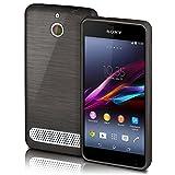 Sony Xperia E1 Hülle Silikon Schwarz [OneFlow Brushed