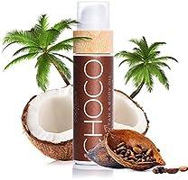 COCOSOLIS Choco - Huile bronzante chocolat, huile Bio pour un bronzage naturel - Crème pour un bronzage chocolat - Six...