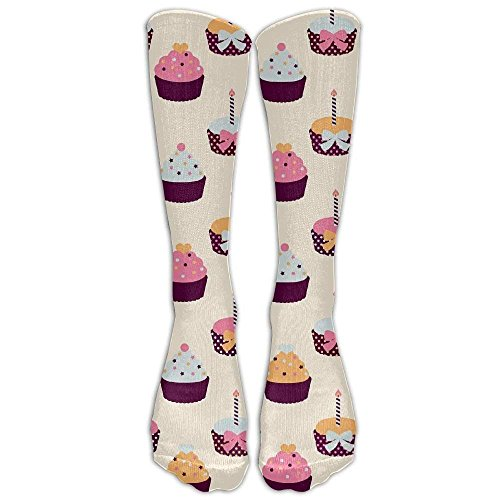 Gped Kniestrümpfe,Socken Cupcake Knee High Graduated Compression Socks For Women And Men - Best Medical, Nursing, Travel & Flight Socks - Running & Fitness Length 50CM