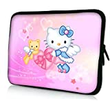 "Laptoptasche Notebooktasche 15"" - 15.6"" zoll Fall Neopren für Notebooks Dell HP Macbook Samsung Apple Toshiba*HELLO KITTY*"