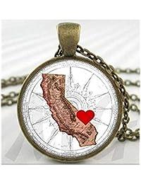 8043c7d7c18a we are Forever family Collar con Mapa de California