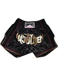 Lumpinee Retro pantalón corto de Muay Thai lumrto-003-black, negro