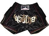 Image de Lumpinee Retro Muay Thai Boxeo Tailandes Pantalones LUMRTO-003-Black