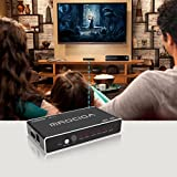 mrocioa Hdmi Switch, 5 Input / 1 Output 4K and 3D High Speed Hdmi Switcher Box with Remote, The 5 Port Hdmi Selector Splitter for PS4 / Xbox One/Fire TV/Apple TV/SKY BOX/STB/DVD/Laptop/Roku.