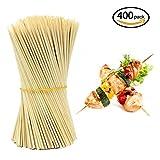 hysagtek 400en bois Bâtons de brochettes en bambou pour barbecue Fruits Chocolat Fontaine à fondue 15cm