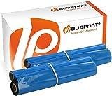 Bubprint 2 Thermotransferrollen kompatibel für Brother PC-72RF PC 72RF PC72RF für Fax T102 T 102 104 T104 T-104 106 T106 T72 T78 92 T92 T98 V1 Schwarz