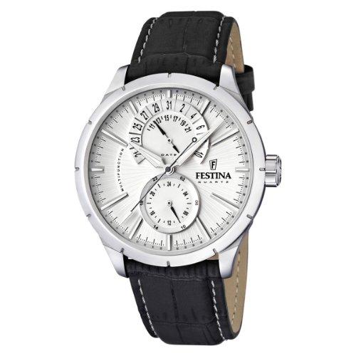289ac5d3875a Ofertas Para Festina F16573 1 - Reloj analógico de cuarzo para hombre con  correa de piel
