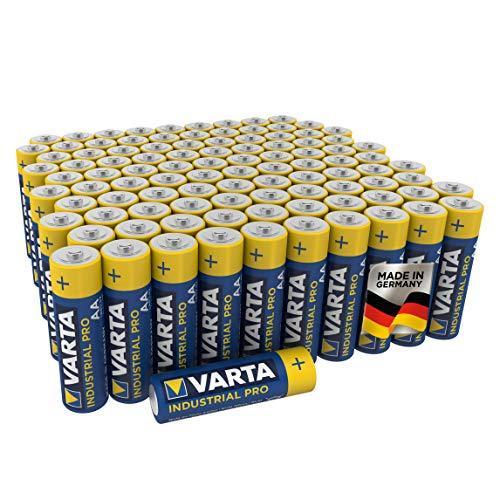 Varta Industrial Pro AA Mignon Alkaline Batterien LR6 - 100er Pack, umweltschonende Verpackung, Design kann abweichen