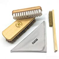 CaaCoo shoe shine brush kit for Suede & Leather Cleaner
