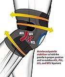 BRACOO Kniebandage mit Klettverschluss und Patellaöffnung – Knieschoner für Sport und Alltag – Kniestütze für Damen und Herren | KS10