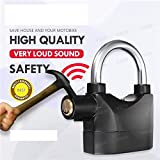 Flyngo Anti Theft Alarm Lock Loud Siren Security Anti-Theft Rainproof Alarm Electric Portable Lock For Home Door, Garage Shutters, Bicycle Motorcycle & More