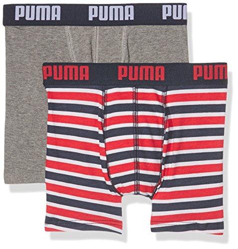 Puma Jungen Basic Boxer Printed Stripe 2p Boxershorts,rot( Ribbon Red),164 (Herstellergröße: 13-14 Jahre )