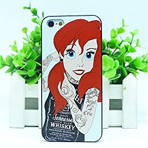 COVER CASE BUMPER RIGIDO ARIEL TATTOO IPHONE 5 5S