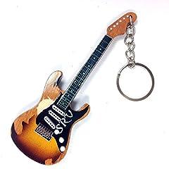 Idea Regalo - Portachiavi in Legno Forma Chitarra - Stevie Ray Vaughan SRV signature