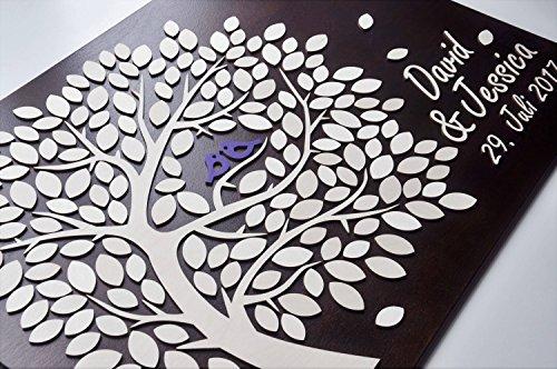 Personalisierte Baum Hochzeit Gästebuch Alternative 3D Holz Gästebuch Zeichen für Hochzeit Geschenke Hochzeit Ideen für das Paar 50,8x 61cm