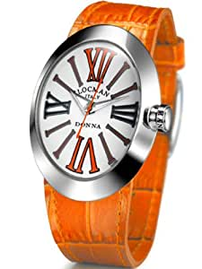 LOCMAN Damen-Armbanduhr XS Donna Analog Quarz Leder 041000WHORKNPSO-N-K
