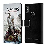Head Case Designs Ufficiale Assassin's Creed Connor Ascia III Arte Chiave Cover a Portafoglio in Pelle per Motorola One Power (P30 Note)