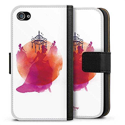 Apple iPhone X Silikon Hülle Case Schutzhülle Disney Cinderella Aschenputtel Geschenke Sideflip Tasche schwarz