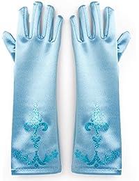 Katara - Guantes de princesa para niñas de 2 - 9 años, accessorio para vestido de disfraz, para Halloween, carnaval o fiesta de cumpleaños - azul