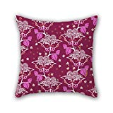 Pillo throw Pillow case di fiore 40,6 x 40,6 cm/40 da 40 cm, ideale per la camera da letto, GF, biancheria da letto, ufficio, home theater, adulti due lati
