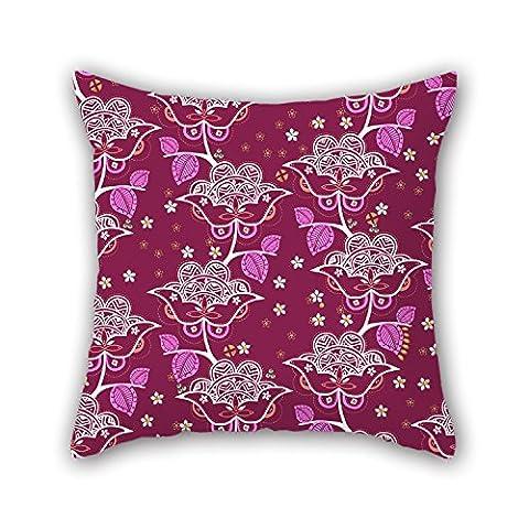 Pillo Couvre-lit Taie d'oreiller de fleur 40,6x 40,6cm/40par 40cm, meilleure adaptation pour chambre à coucher, GF, linge de lit, bureau, Home Cinéma, adultes deux côtés